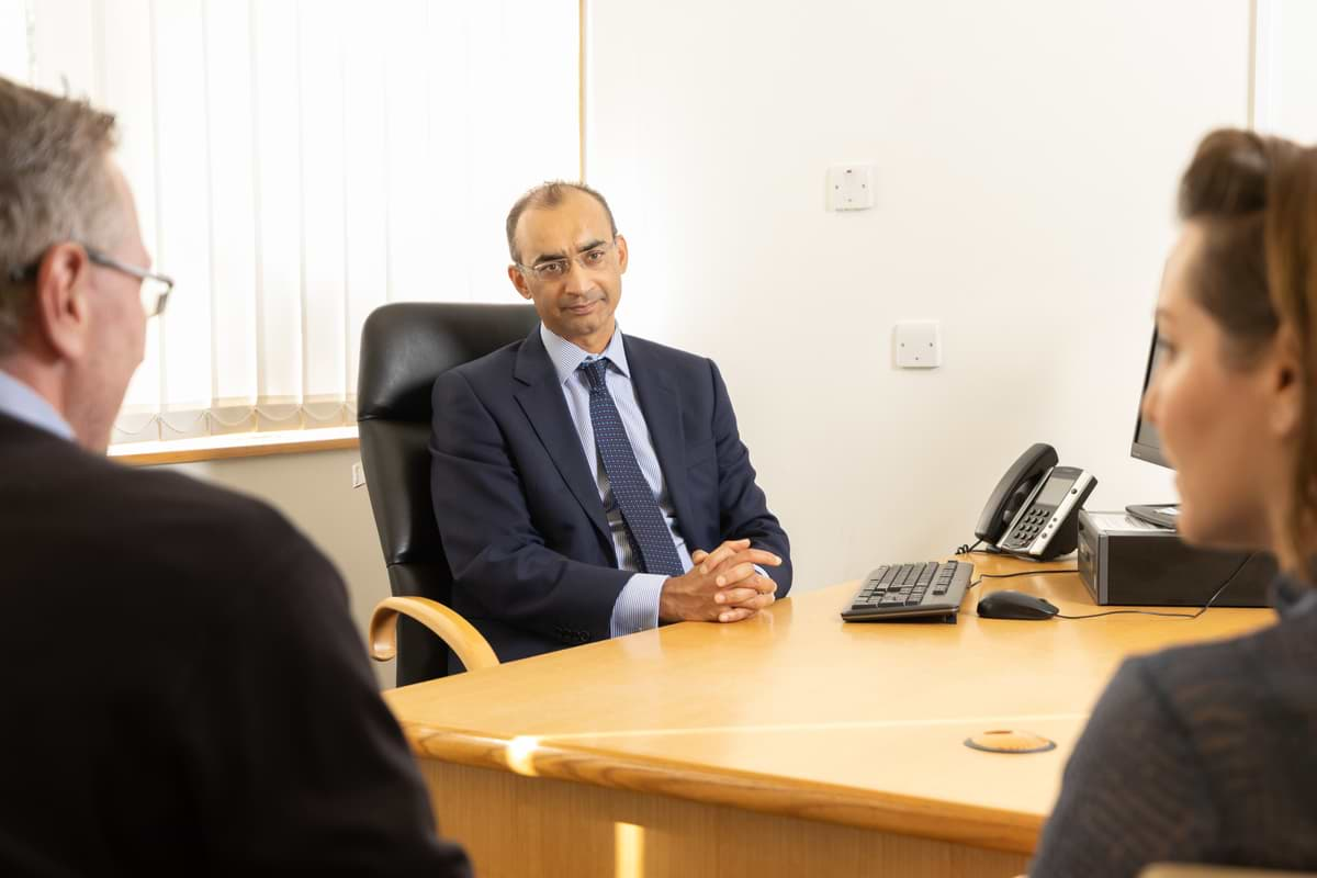 Saj Wajed Exeter Consultant Upper GI Surgeon in Consultation